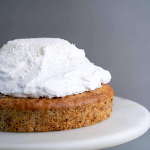 "Vegan Banana Cake with Coconut Whipped Cream 7.5"" - Healthy Cakes - Baked KL - - Eat Cake Today - Birthday Cake Delivery - KL/PJ/Malaysia"