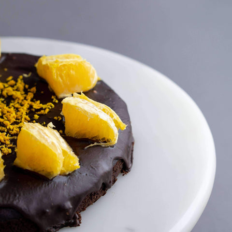 "Vegan Chocolate Orange Brownie 7"" - Healthy Cakes - Baked KL - - - - Eat Cake Today - Birthday Cake Delivery - KL/PJ/Malaysia"