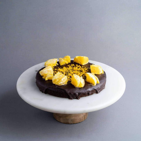 "Vegan Chocolate Orange Brownie 7"" - Healthy Cakes - Baked KL - - Eat Cake Today - Birthday Cake Delivery - KL/PJ/Malaysia"