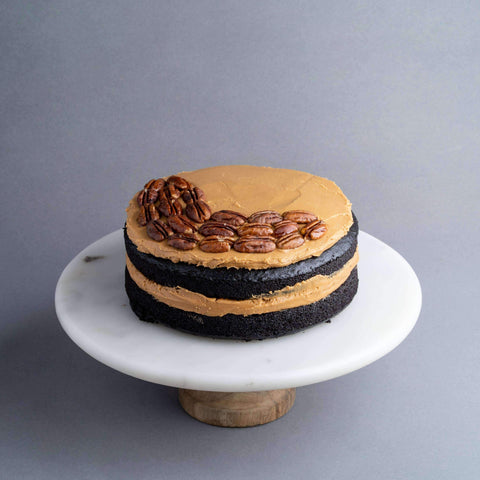 "Vegan Chocolate Peanut Butter Banana Cake 7.5"" - Healthy Cakes - Baked KL - - Eat Cake Today - Birthday Cake Delivery - KL/PJ/Malaysia"