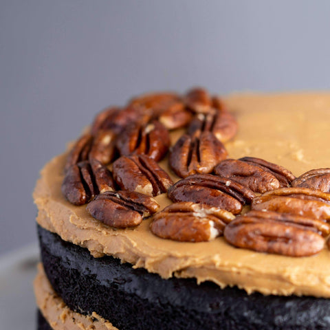 "Vegan Chocolate Peanut Butter Banana Cake 7.5"" - Healthy Cakes - Baked KL - - - - Eat Cake Today - Birthday Cake Delivery - KL/PJ/Malaysia"