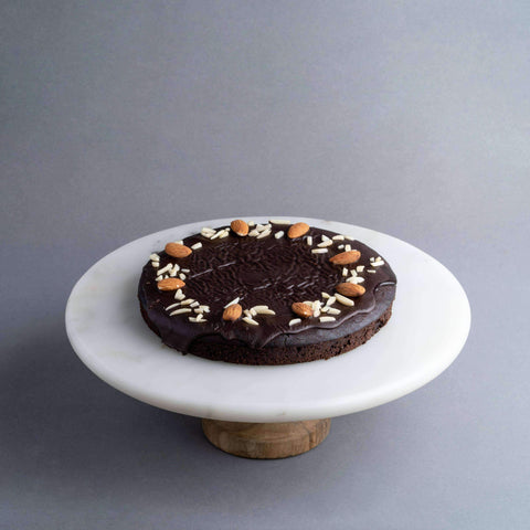 "Vegan Coffee Almond Brownie 7"" - Healthy Cakes - Baked KL - - - - Eat Cake Today - Birthday Cake Delivery - KL/PJ/Malaysia"