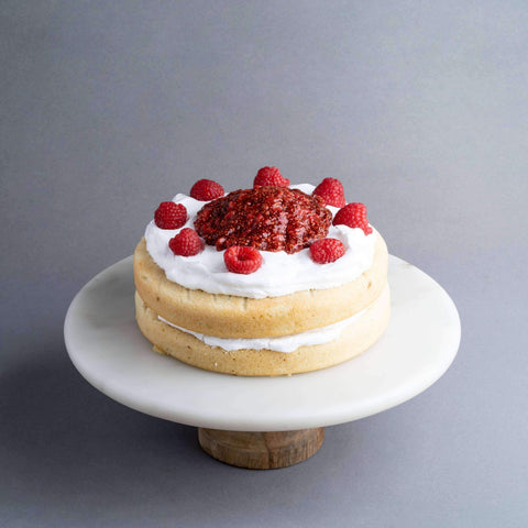 "Vegan Lemon Raspberry Cake 7.5"" - Healthy Cakes - Baked KL - - Eat Cake Today - Birthday Cake Delivery - KL/PJ/Malaysia"