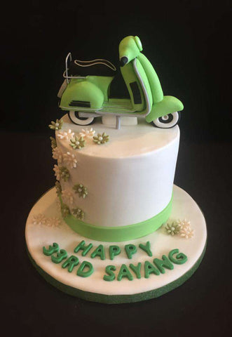 Vespa Cake 4.5 inch - Customized Cakes - B'Sweetbites - - Eat Cake Today - Birthday Cake Delivery - KL/PJ/Malaysia