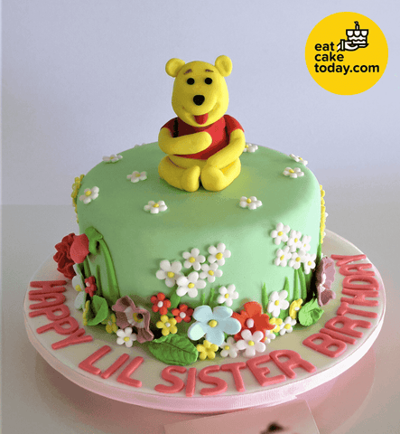 Winnie The Pooh Cake (Customized) - - Eat Cake Today - Cake Delivery from Malaysia's Best Bakers - - - - Eat Cake Today - Birthday Cake Delivery - KL/PJ/Malaysia