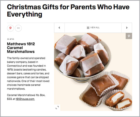 Parents.com Gifts for Parents with Everything: Caramel Marshmallows