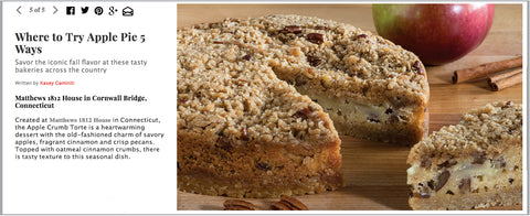 DuJour Magazine Apple Crumb Torte