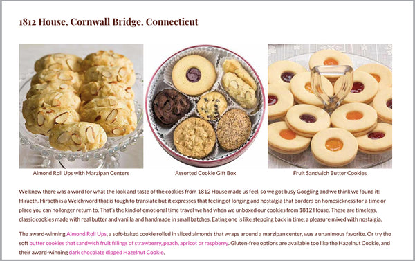 1812 House Cookies on Eat Gift Love