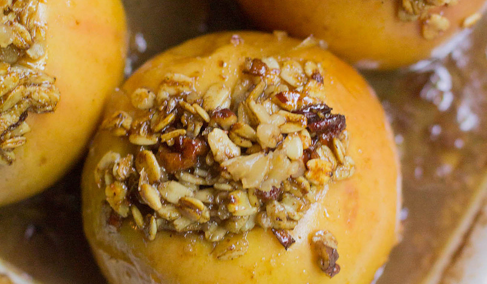 Baked apples with Bourbon Caramel Sauce