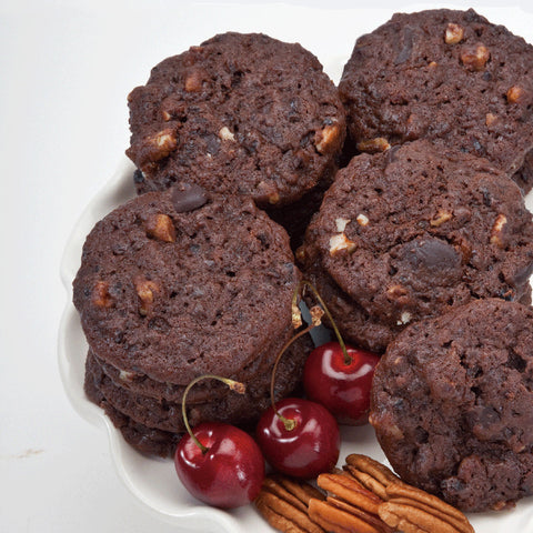 Chocolate Cherry Pecan Cookies