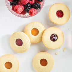 Fruit Filled Cookies with berries