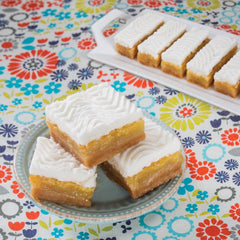 Key Lime Bars Cut on plates