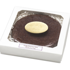 Fudge Brownie Torte in a white gift box