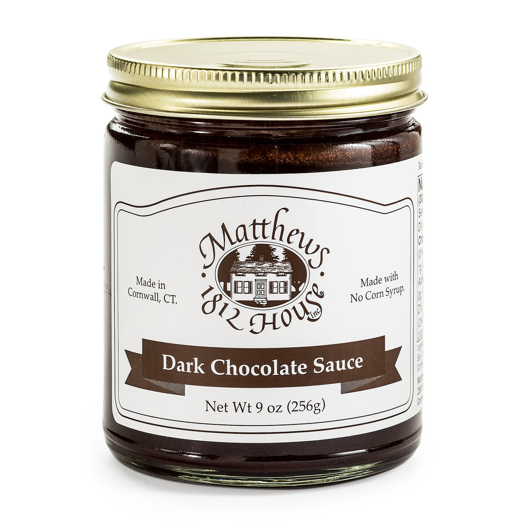 Dark Chocolate Sauce in a jar