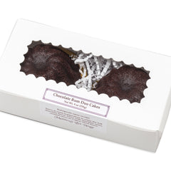 Chocolate Rum Duo Cakes in gift box