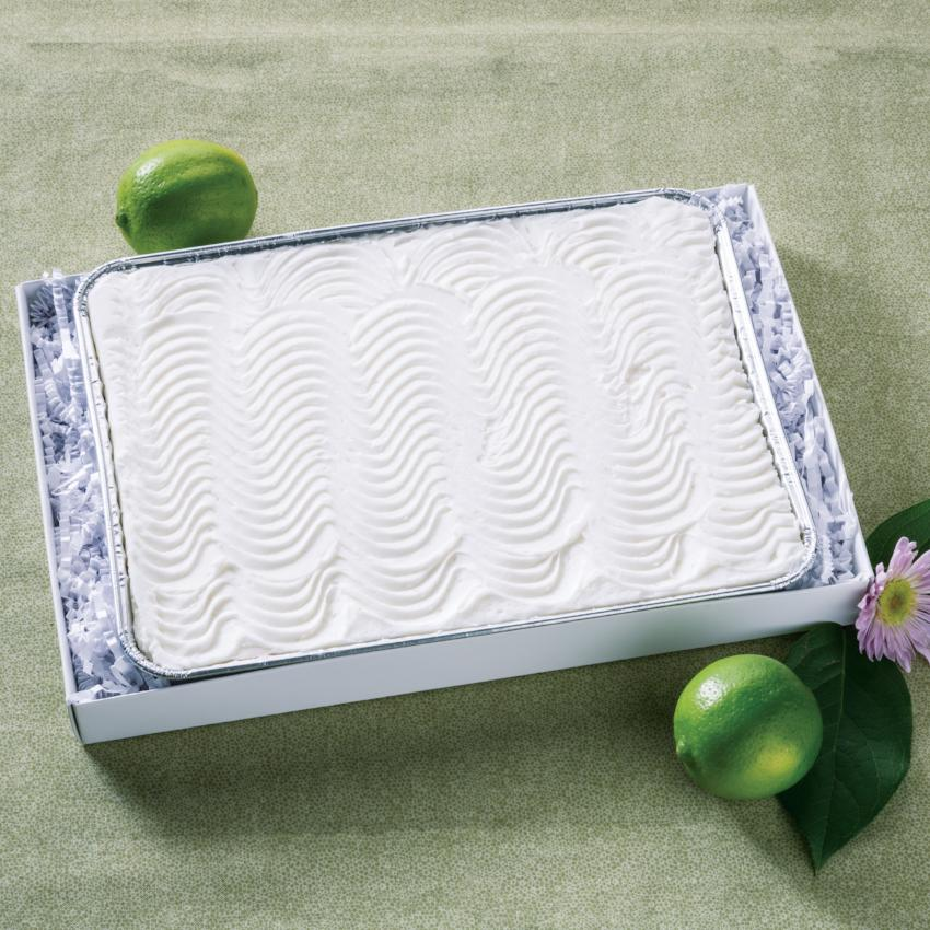 Key Lime Bar in Tray with limes