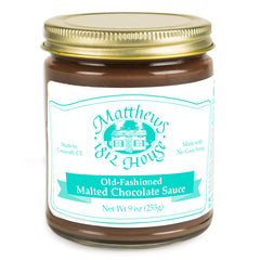 Jar of Malted Chocolate Sauce