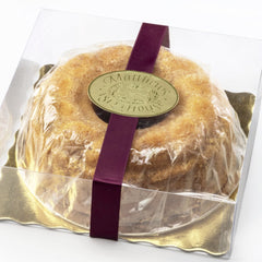 Marzipan Cake in clear gift box with ribbon