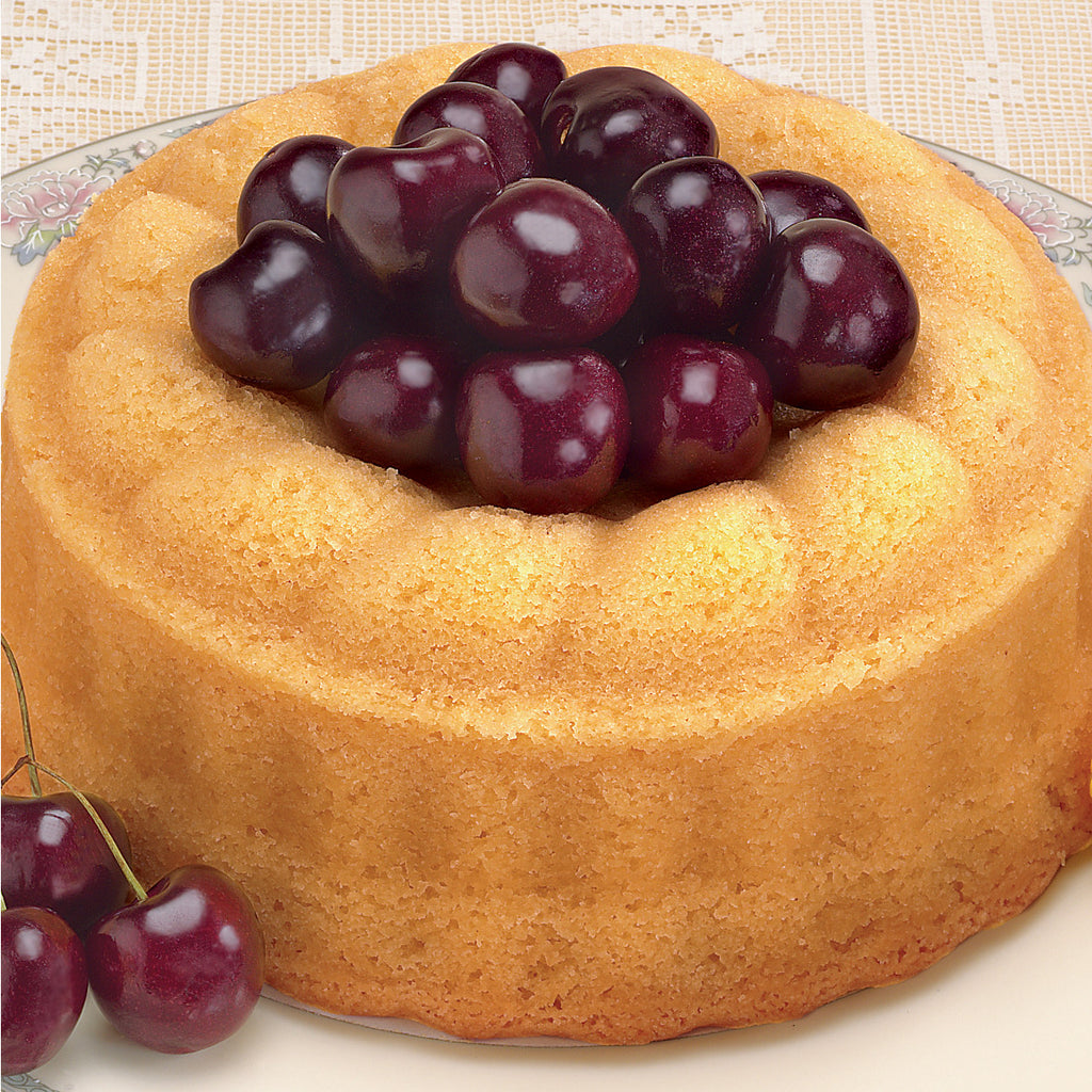 Marzipan Cake with Cherries