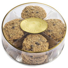 No Sugar Added Oatmeal Cookies in a gift Round