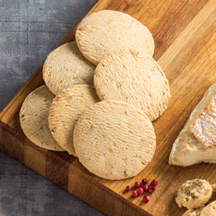 Pink Peppercorn cookies on cheese board