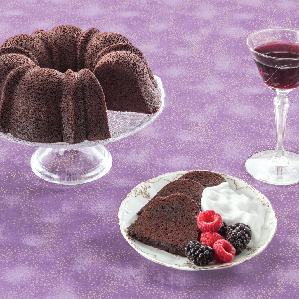 Port Wine Chocolate Cake with Berries and Port