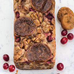 Bourbon Fig Loaf Cake with Cranberries