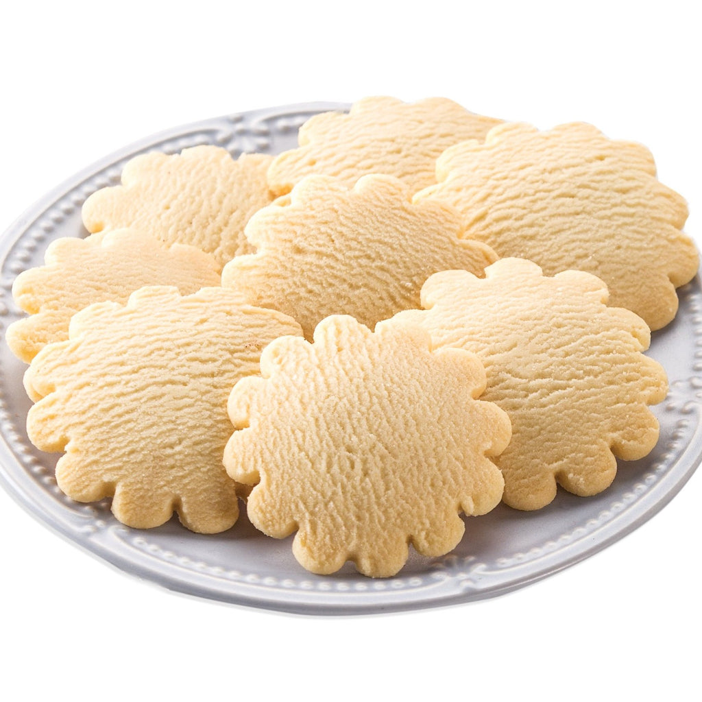 Lemon Shortbread Cookies on a plate