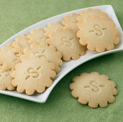 Sugar Free Lemon Shortbread Cookies
