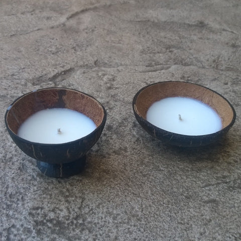 Coconut Shell Floating Candle