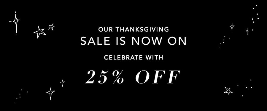 Thanksgiving Sale 25% Off