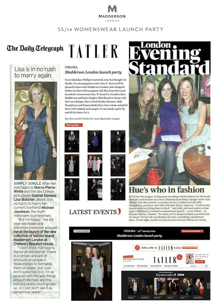 SS14 Womenswear Launch Party: Press Coverage