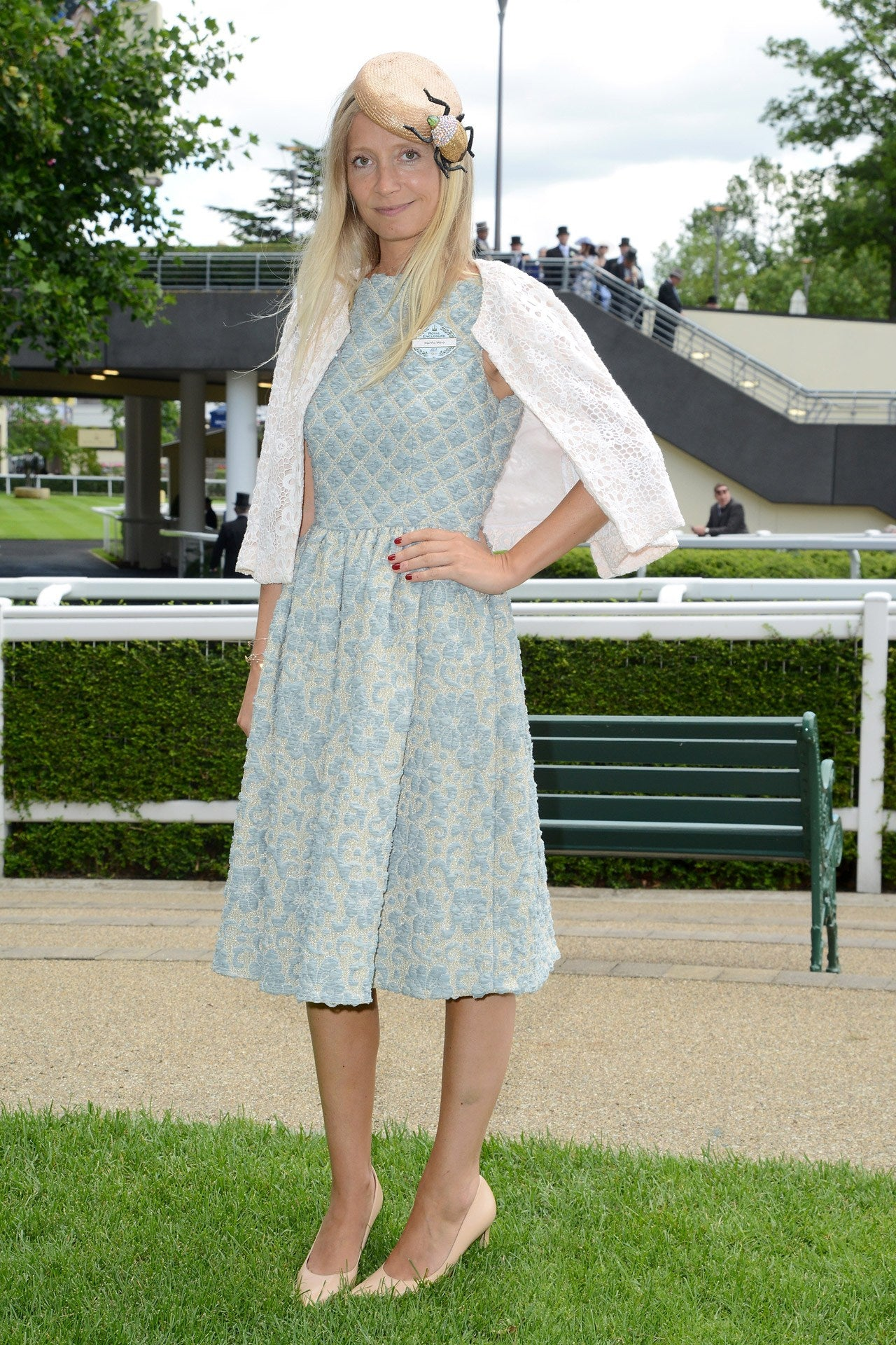 Vogue's Martha Ward wears our Marnie dress to the Royal Ascot