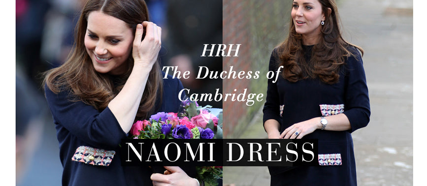 HRH the Duchess of Cambridge Wears Our 'Naomi' Dress