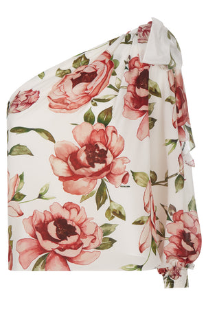 Bethany Silk Peony Top - Womenswear - Madderson London