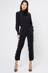 Clara Trousers Black / Gold - Womenswear - Madderson London
