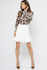 Clementine Skirt Ivory - Womenswear - Madderson London