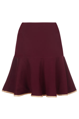 Clementine Skirt Claret - Womenswear - Madderson London