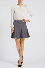 Clementine Skirt Grey - Womenswear - Madderson London
