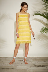 Effie Dress - Yellow - Womenswear Outlet - Madderson London
