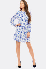ELIZABETH SILK TULIP DRESS - Womenswear - Madderson London