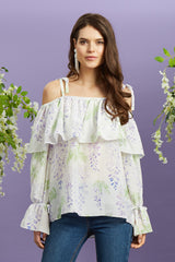 Francesca Top Wisteria - Womenswear Outlet - Madderson London