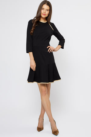 Ida Fit-and-Flare Dress Black - Womenswear - Madderson London
