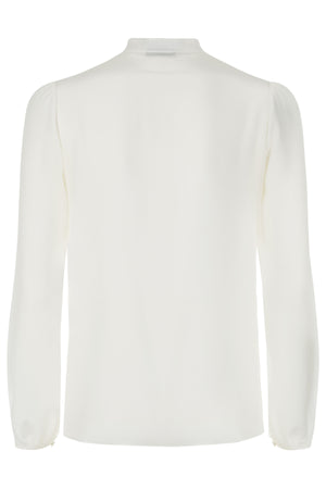 Leonie Ivory Silk Blouse - Womenswear - Madderson London