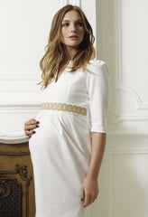 Nadine Dress - Cream - Maternity - Madderson London