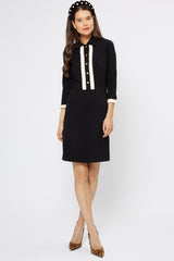 Miranda Black Jersey Dress - Womenswear - Madderson London