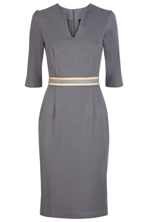 Ophelia Dress Grey - Womenswear Outlet - Madderson London