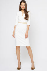 Ophelia Ivory Jersey Dress - Womenswear - Madderson London