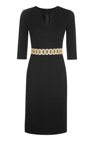 Ophelia Black Jersey Dress - Womenswear - Madderson London