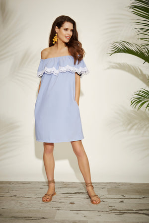 Tamsin off-the-shoulder dress - Womenswear - Madderson London